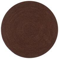 vidaXL Handmade Rug Jute Round 90 cm Brown