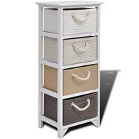 vidaXL Storage Cabinet 4 Drawers Wood
