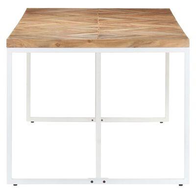 vidaXL Dining Table 200x90x76 cm Solid Acacia and Mango Wood