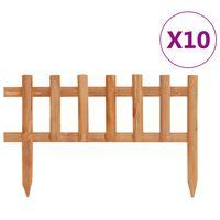 vidaXL Lawn Edgings 10 pcs Firwood 4.4 m