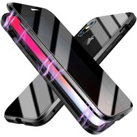 Magnetic mobile cover with screen protector for iPhone XS Max - black