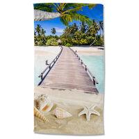 Good Morning Beach Towel MOANA 100x180 cm Multicolour