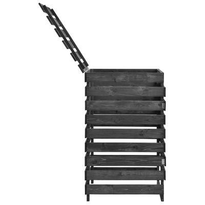 vidaXL Single Wheelie Bin Shed 70x75x121 cm Painted Solid Pinewood