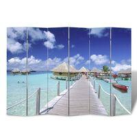 vidaXL Folding Room Divider 240x170 cm Beach