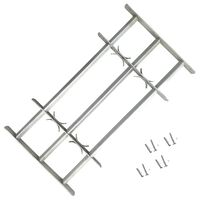 Adjustable Security Grille for Windows with 3 Crossbars 1000-1500 mm