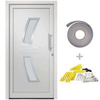 vidaXL Front Door White 108x200 cm