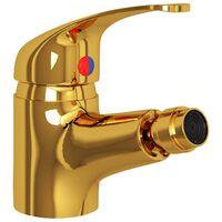vidaXL Bathroom Bidet Mixer Tap Gold 13x12 cm