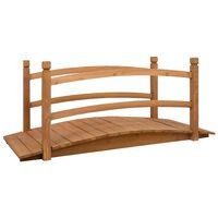 vidaXL Garden Bridge 140x60x60 cm Solid Firwood