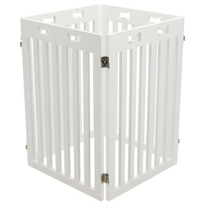 TRIXIE Dog Barrier 4-part MDF 60-160 cm White
